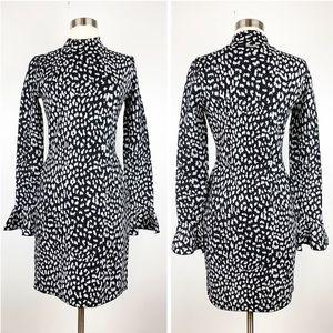 MICHAEL Michael Kors Leopard Knit Sheath Dress
